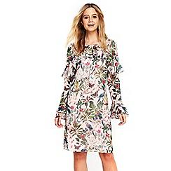 Wallis - Parrot print ruffle shift dress