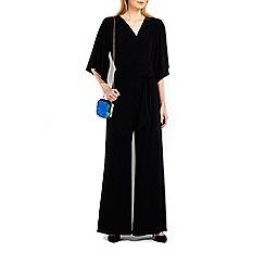 Wallis - Black flare sleeve jumpsuit