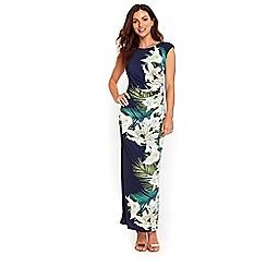 Wallis - Lime lily print maxi dress