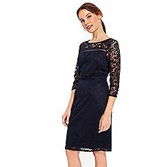 Wallis - Navy lace panel shift dress