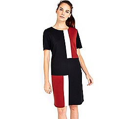 Wallis - Rust ponte colour block dress