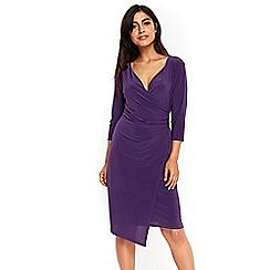 Wallis - Purple wrap dress
