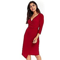 Wallis - Wine wrap dress