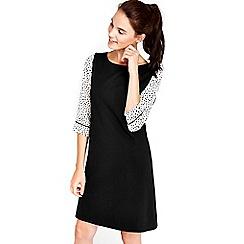 Wallis - Black print layered pinny dress