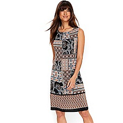 Wallis - Patchwork paisley pinny dress