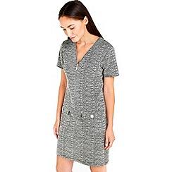 Wallis - Monochrome jacquard zip dress
