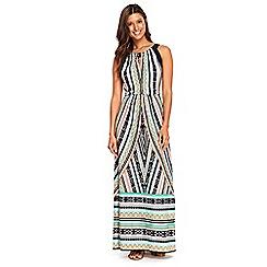 Wallis - Navy tahiti print maxi dress
