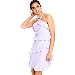 Wallis - Ruffle halter cold shoulder dress
