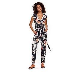 Wallis - Navy garden floral jumpsuit