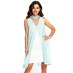 Wallis - Mint embellished neck dress