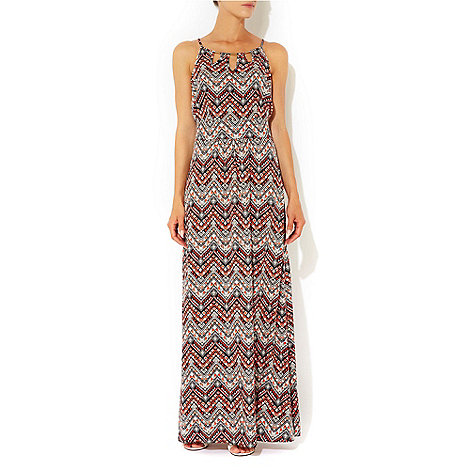 Wallis - Orange aztec print maxi dress