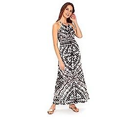 Wallis - Neutral animal tribal maxi dress