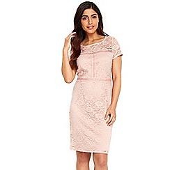 Wallis - Blush lace cap sleeves dress