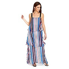 Wallis - Stripe tiered maxi dress