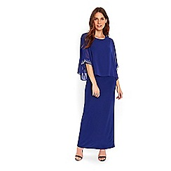 Wallis - Blue embellished cuff maxi dress