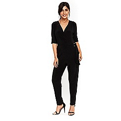 Wallis - Black buckle jumpsuit