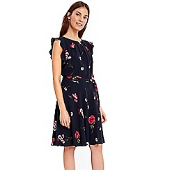 Wallis - Pink daisy fit and flare dress