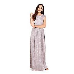 Wallis - Silver pleated maxi maxi dress