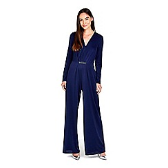Wallis - Navy embellished jumpsuit