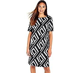 Wallis - Black jacquard dress