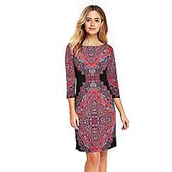 Wallis - Black paisley tunic dress