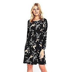 Wallis - Black herron print swing dress