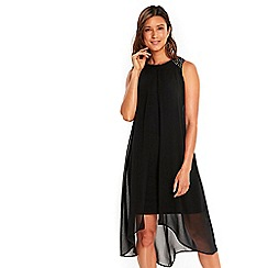 Wallis - Black embellished split front dress