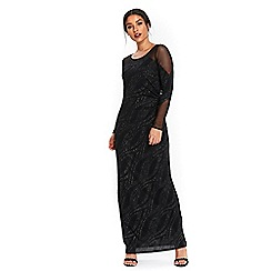Wallis - Black over layer maxi dress