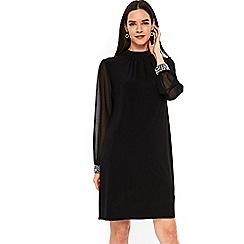 Wallis - Black embellished cuff dress