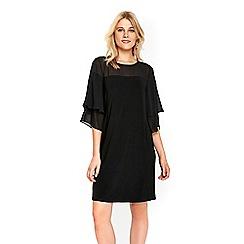 Wallis - Black flute sleeve dress