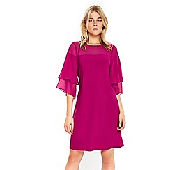 Wallis - Purple flute sleeves dress