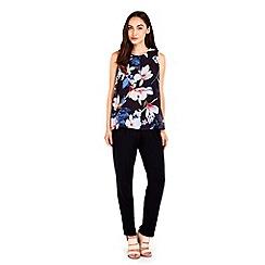 Wallis - Blue floral overlay jumpsuit