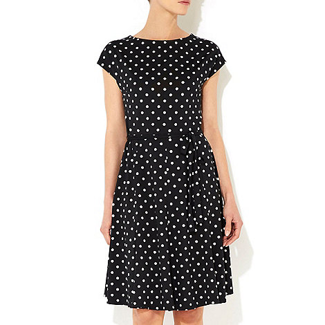Wallis - Black polka dot dress