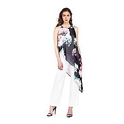 Wallis - Sapphire cream floral printed jumpsuit