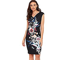 Wallis - Black floral shift dress