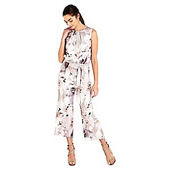 Wallis - Grey floral jumpsuit