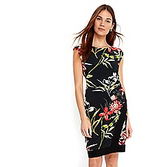 Wallis - Black blocked floral dress
