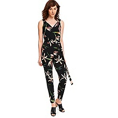 Wallis - Black bird of paradise jumpsuit