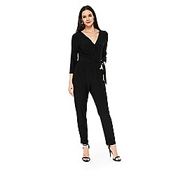Wallis - Black detailed  jumpsuit