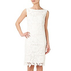 Wallis - Ivory floral lace shift dress