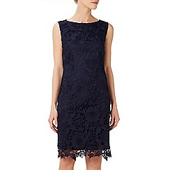 Wallis - Ink floral lace shift dress