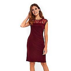 Wallis - Berry lace detailed side dress