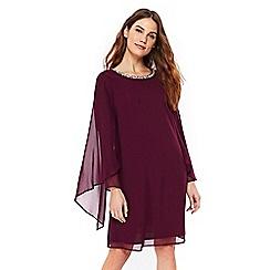 Wallis - Purple embellished cape shift dress