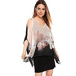 Wallis - Pale pink soft lily overlayer dress