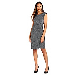 Wallis - Silver sparkle ruche side dress