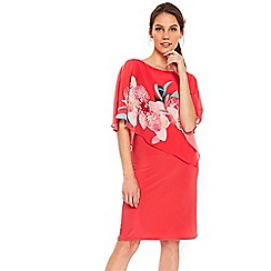 Wallis - Coral orchid overlayer dress