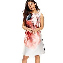 Wallis - Pink floral a-line shift dress