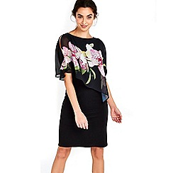 Wallis - Black orchid overylay dress