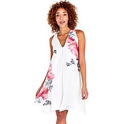 Wallis - Ivory rose overlayer dress