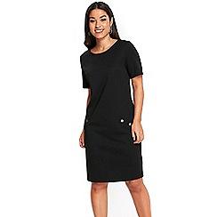 Wallis - Black ponte shift dress